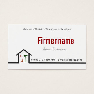 Craftsman Business Card