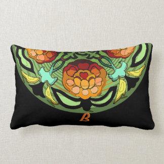 Craftsman Garden in Autumn Colours - Monogrammed Lumbar Cushion