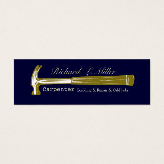 Craftsman Hammer Construction Woodwork Mini Business Card