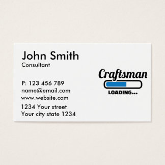 Craftsman loading business card
