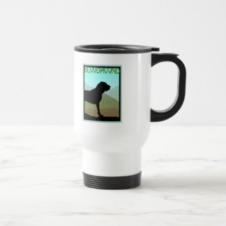 Craftsman Style Bloodhound Dog Travel Mug