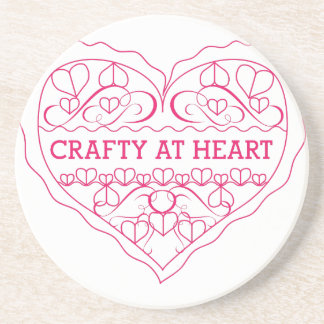 Crafty At Heart Drink Coaster