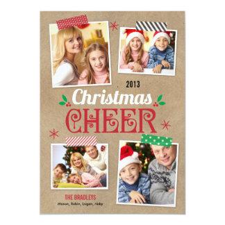 Crafty Christmas Holiday Photo Card 13 Cm X 18 Cm Invitation Card