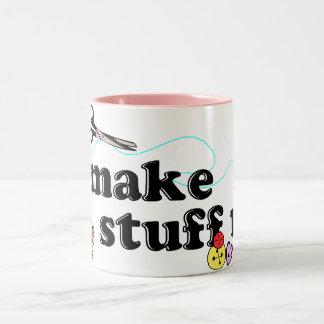 Crafty - I Make Stuff Up Two-Tone Mug