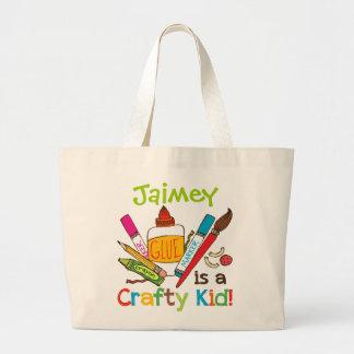 Crafty Kid Custom Large Tote Bag