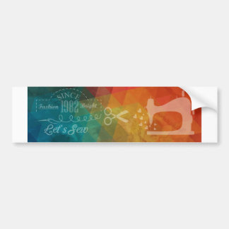 Crafty Love Sewing Bumper Sticker