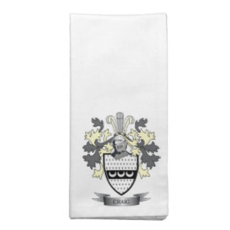 Craig Family Crest Coat of Arms Napkin