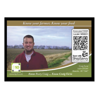 Craig Farm Traceable Shelftalker Pack Of Chubby Business Cards