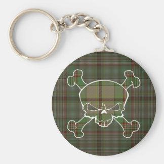 Craig Tartan Skull No Banner Keyring Basic Round Button Key Ring