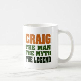 Craig - the Man, the Myth, the Legend Basic White Mug