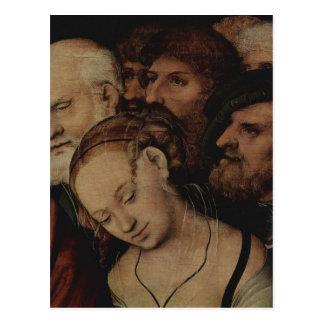Cranach d. J., Lucas Christus und die Ehebrecherin Postcard