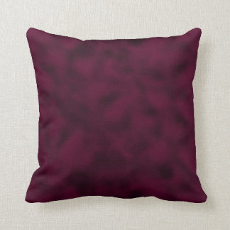 Cranberry and Black Mottled Throw Pillow