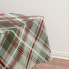 cranberry and dark loden Christmas plaid Tablecloth