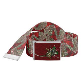 Cranberry Boho Belt