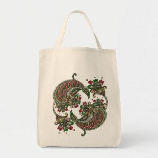 Cranberry Boho Tote Bag