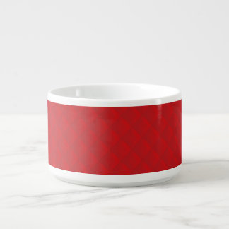 Cranberry Christmas Red Quilted Pattern Chili Bowl
