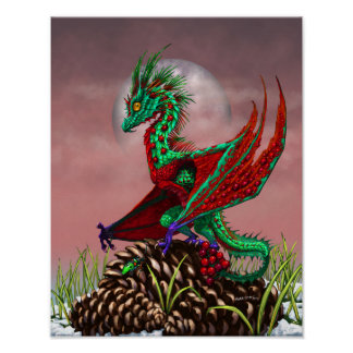Cranberry Dragon 11x14 (4x6 and up) Poster