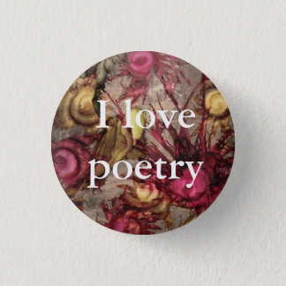 """Cranberry """"I Love Poetry"""" Button"""
