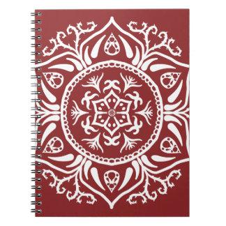 Cranberry Mandala Notebook