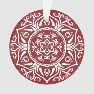 Cranberry Mandala Ornament