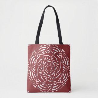 Cranberry Mandala Tote Bag