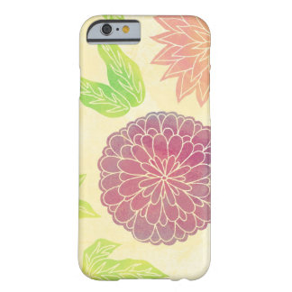 Cranberry & Orange Floral Barely There iPhone 6 Case