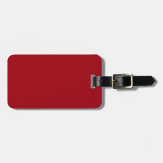 Cranberry Red Custom Luggage Tag