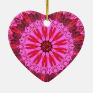 Cranberry Splash Ceramic Heart Decoration