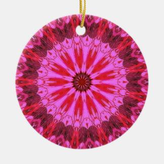Cranberry Splash Round Ceramic Decoration