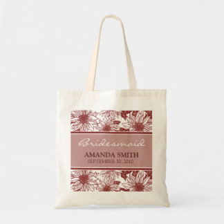Cranberry Sunflower Personalized Wedding Party Bag