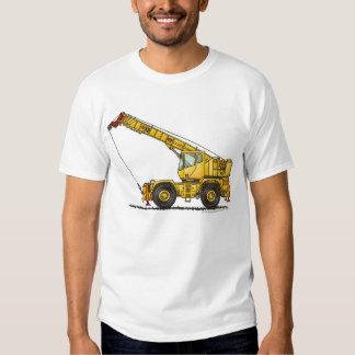 Crane All Terrain Hydraulic Construction Apparel T-shirts