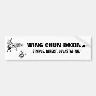 crane and snake, wc banner lrg bumper sticker