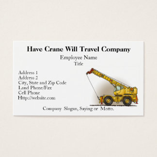 Crane Construction Business Cards