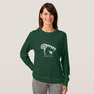 Crane Eating Fish - Mimbres Pottery Design T-Shirt