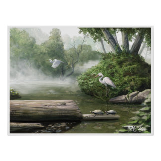 Crane Flight : A Nature Painting Poster