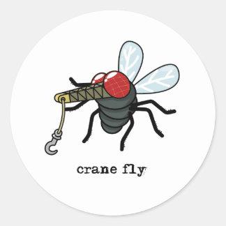 Crane Fly Classic Round Sticker