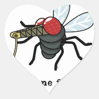 Crane Fly Heart Sticker