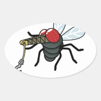 Crane Fly Oval Sticker