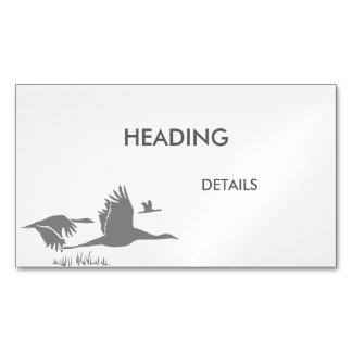 Crane Guy Magnetic Business Cards
