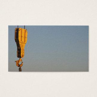 Crane hook business card