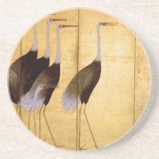 Crane, Ogata Korin Japanese Fine Art Coaster