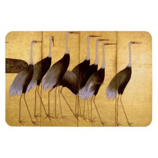Crane, Ogata Korin Japanese Fine Art Rectangular Photo Magnet