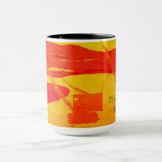CRANE OPERATOR ART I'D RATHER BE GOLFING VINTAGE MUG