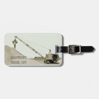 CRANE OPERATOR EARLY NORTHWEST MODEL 104 CLAMSHELL LUGGAGE TAG