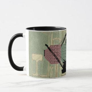 crane operator fantasy art crawler crane schematic mug