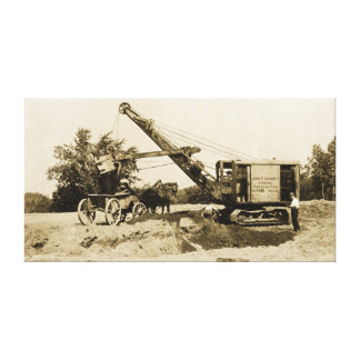 Crane Operator Heavy Equipment Northwest Antique Canvas Print