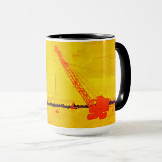 CRANE OPERATOR ICE FISHING NORTHWEST CRANE ART MUG