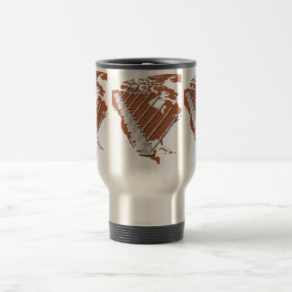 Crane Operator North America Diamond Plate design Travel Mug
