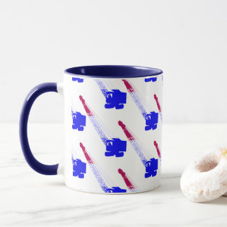 CRANE OPERATOR NORTHWEST CRAWLER RED WHITE BLUE MUG