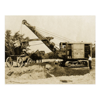Crane Operator Northwest Loading Horse n Buggy Old Postcard